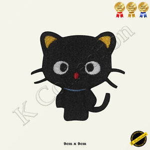 Cat Cute Black Cat Disney Embroidered Iron on/Sew On Patch/Badge For Clothes