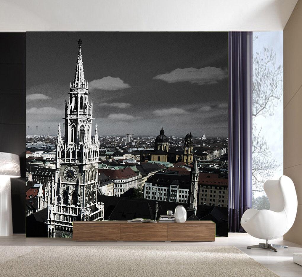 3D Castello Bello·Parete Murale Foto Carta da parati immagine sfondo muro stampa