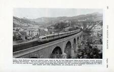 Italy Electric High Speed train 1954 printed photo