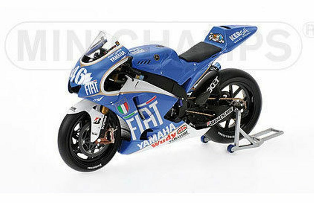MINICHAMPS 083096 YAMAHA YZR M1 diecast bike Rossi MotoGP Barcelona 2008 1 12th