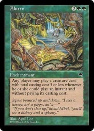 Aluren NM MTG Tempest Magic 2B3