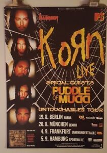 Details about Korn untouchables tour Puddle of Mudd Original Concert poster