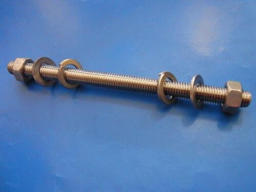 Gewindestange Set Gewindebolzen V2A M8 Länge 30-250mm DIN 976 B