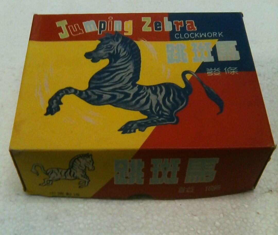 1950s Vintage wind up toy Jumpin Zebra (works)