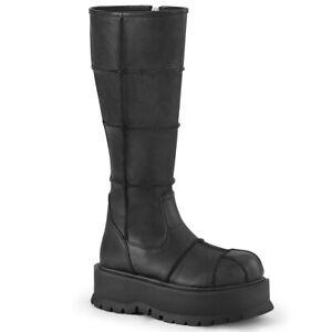 Demonia-SLACKER-230-Black-Women-039-s-Mid-Calf-amp-Knee-High-Boots