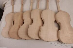 3pcs Unfinished Violin 4 4 Flame Maple Back Russian Spruce Violin Parts Yinfente Ebay