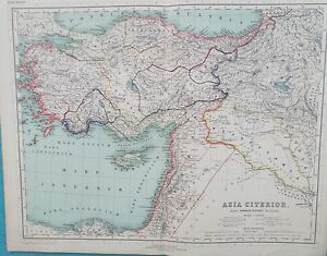 Map Ancient Asia Minor Palestine 1898 Kiepert Turkey Middle