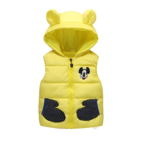 New 2018 Children Autumn Winter Mickey Vest for 1-5T Boys Baby Kids Thick