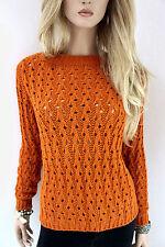 RINASCIMENTO Damen Pullover Strickpulli Wollmischung mit Alpaka S M 36 38 orange