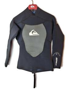 Quiksilver-Syncro-1-5MM-100-Hyperstretch-3-0-Men-039-s-Sz-XS-46-Black-Wetsuit-Top