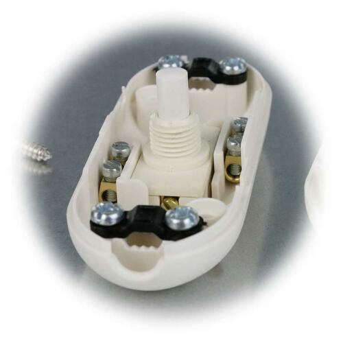 Druck-Zwischenschalter 230V//2A Lampenschalter Lampe Schalter Schnurschalter
