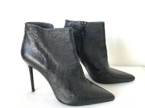 13906b288432 Image is loading NEW-STUART-WEITZMAN-WOMENS-PUREAOK-Textured-Leather-Ankle-