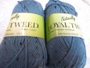 NATURALLY-LOYAL-TWEED-DK-YARN-10-BALLS-MID-BLUE-NO-1003-50GR