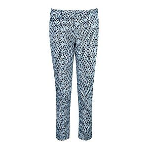 14 Bnwt Size Capri £ Blue 85 Collection Geo Pants Pure Rrp Print xrarWBRq8c