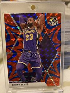 2019-20-Panini-Mosaic-LEBRON-JAMES-SP-Reactive-Blue-Prizm-Lakers-MINT