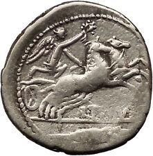 Roman Republic Titurius, Sabinus 89BC Silver Coin Horse Victory Cult  i36531