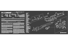 M1 Carbine Armorers Gun Cleaning Bench Mat w/Exploded View Schematic Parts List