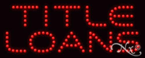"""BRAND NEW """"TITLE LOANS/"""" 20x8x1 LED SIGN W//CUSTOM OPTIONS 22341"""