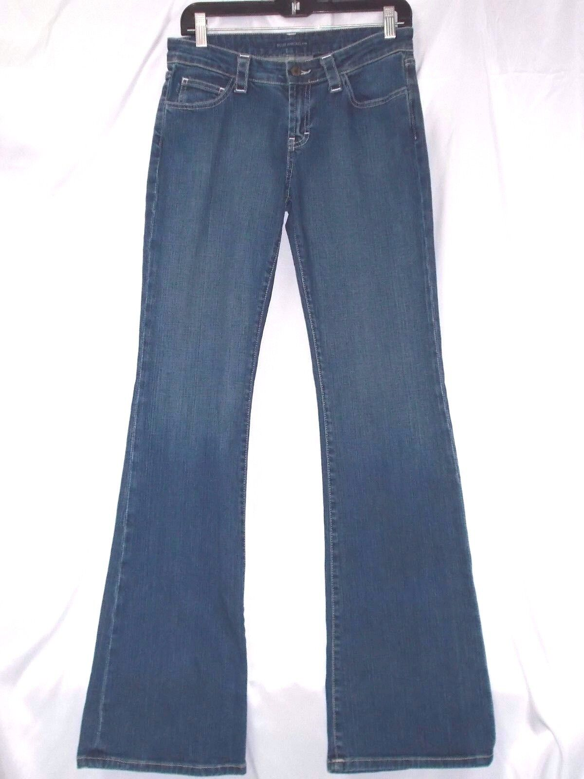 bluejeanious Jeans Indigo Size 29 (9 10) bluee  331 2 Inseam Embroidered  New