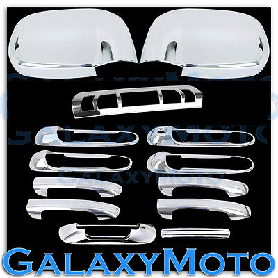 Dodge Ram 1500+2500+3500+HD Chrome 4 Door Handle No PSG KH+Tailgate+Gas Cover