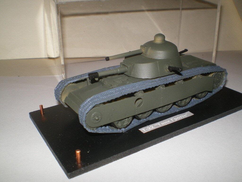 Char expérimental T-22  Tank Gredté  (1 72) resine