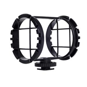 "Movo SMM2 Camera Shoe Shockmount for Shotgun Microphones 1/"" to 2/"" in Diameter H1"