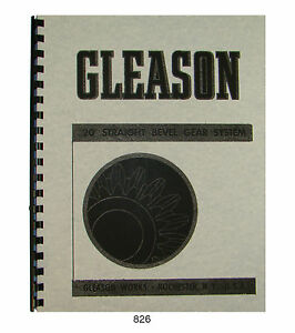 gleason 20 deg straight bevel gear system tables manual 826 ebay rh ebay com Worm Gear Zerol Bevel Gear