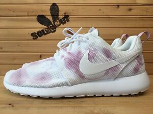 New-1-of-1-Custom-Nike-Roshe-One-sz-11-5-Wino-Wine-Splatter-Dyed-White-Shoes