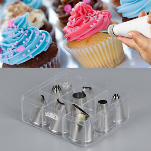9 pieces cake decorating extra large cupcake icing piping ...