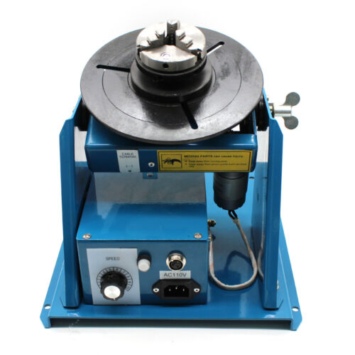 10KG Rotary Welding Positioner Turntable Timing 220mm Chuck Foot Switch 110V
