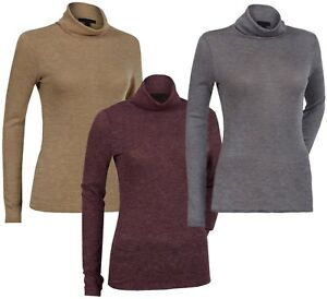 Ladies-Womens-High-Roll-Polo-Turtle-Neck-Long-Sleeve-Top-Light-Jumper-Plus-Size