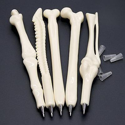 5pcs Novelty Ball point Pen Bone Shape Nurse Doctor Student Creative Gift  M3