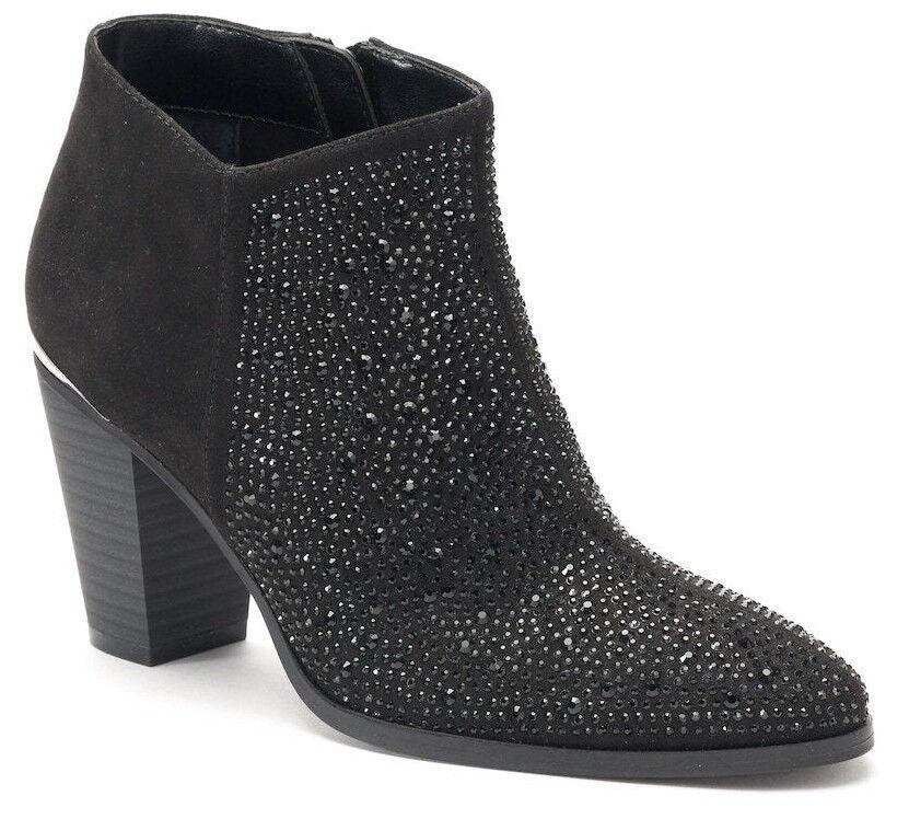 Jennifer Lopez  Women's Galena Embeliished Black Ankle Boots - Sizes 6.5   7 NWB