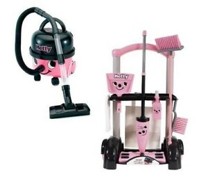 Casdon Little Helper Hetty Hoover & Chariot Nettoyage Jouet Set Playset Bundle