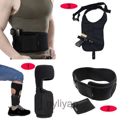 USA Concealed Hidden Leg Ankle//Waist//Shoulder Holster For Pistol Gun Carry Bag