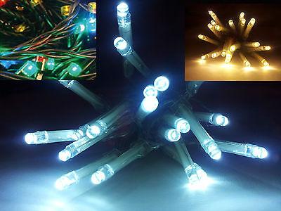 NEU LED-Lichterketten 10er 20er 30er weiß warmweiß kaltweiß bunt Batterie