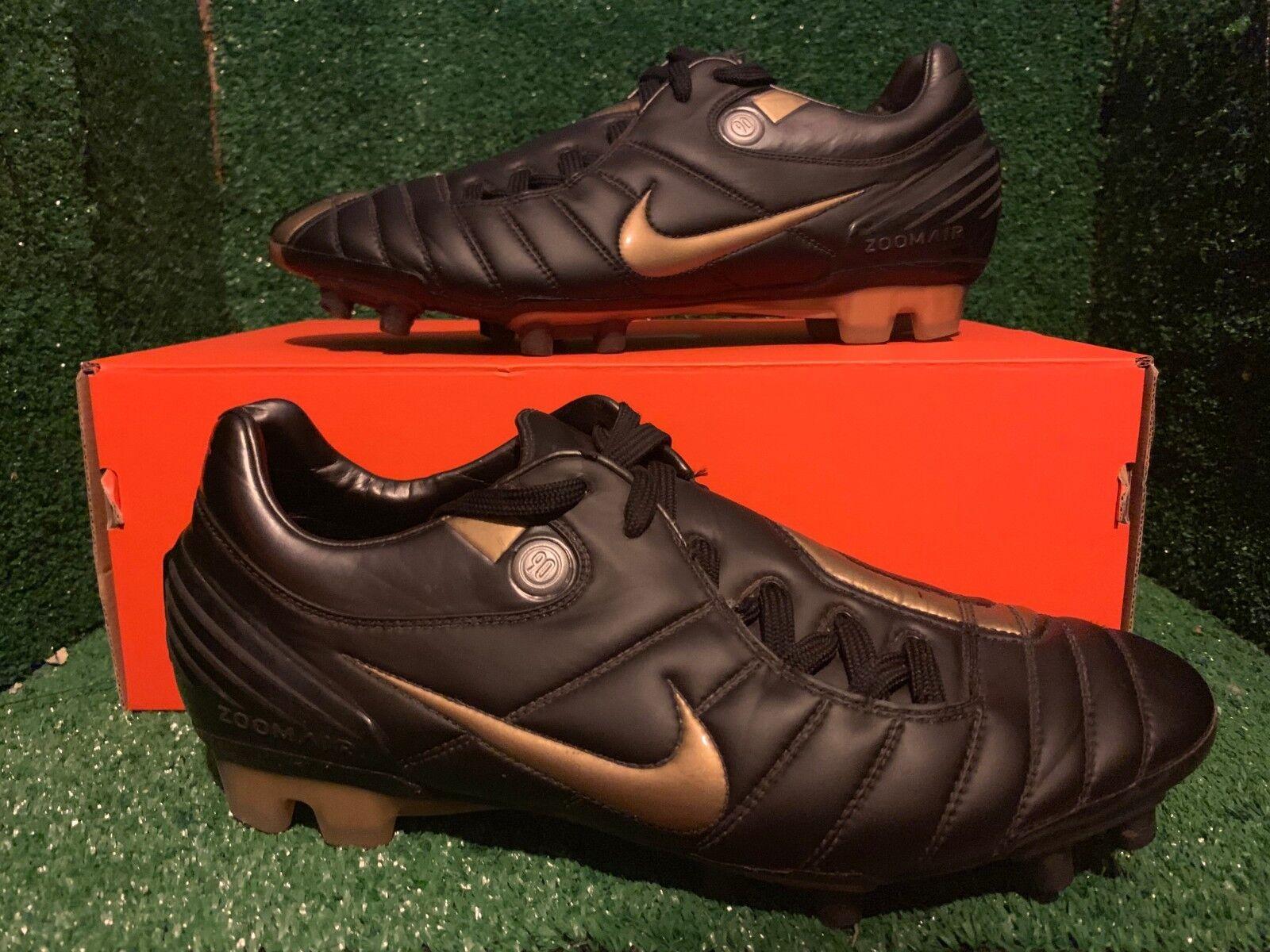 Nike Air Vapor Zoom total 90 FG botas de fútbol oro Negro 9,5 8,5 43