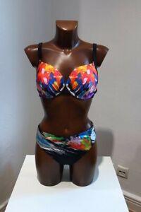 Sunflair Water Lily Bikini unterlegt Schwarz Bunt 38-44 C