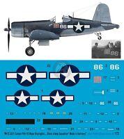 Peddinghaus 1/72 F4u-1d Corsair Markings Gregory Boyington Black Sheep Sq. 2331