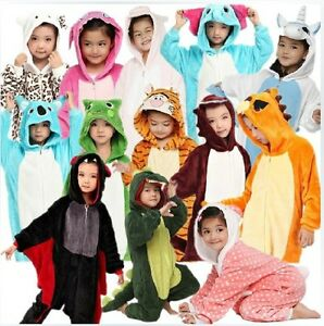 New-Unisex-Kids-Onesies-Kigurumi-Pajamas-Anime-Cosplay-Costume-Sleepwear-Suit