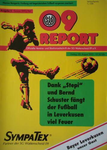 Bayer Leverkusen Programm 1993//94 SG Wattenscheid 09
