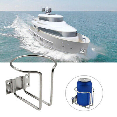 2x Edelstahl Marine Boot Becherhalter Flaschenhalter Getränkehalter Cup Holder