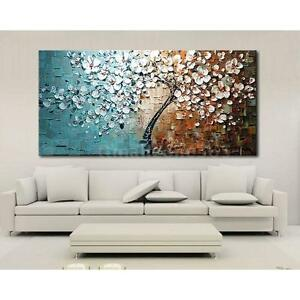 Details about Hand-painted Oil Painting Set Flower Tree Canvas Print  Bedroom Art Picture B6T1