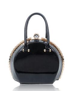 New-UK-Ladies-Diamante-Shoulder-Bag-Patent-Faux-Leather-Top-Handle-Handbag