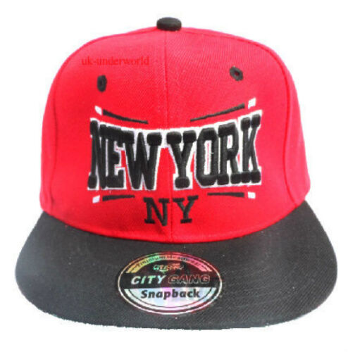 Adults Mens Ladies New York Baseball Cap Ny State Snapback Retro Hip Hop Hat