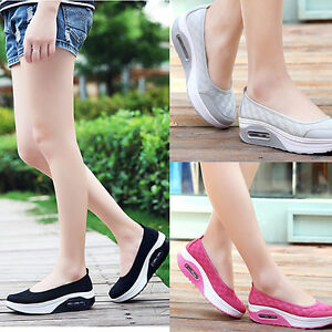 2018 Women's  Mesh Breathable Wedges Spot Shake Casual Fitness Sport Shoes NEW