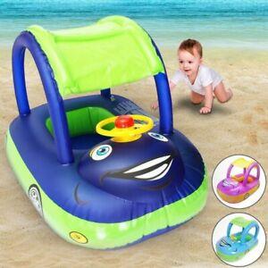 Bouee-Bateau-Gonflable-bebe-volant-voiture-enfants-jouet-eau-piscine-plage-ete