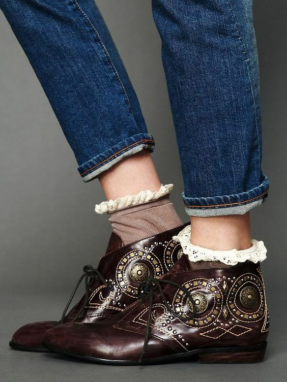 NEW ☮    Free People Jeffrey Campbell Distressed Brown Pelle Ankle Boot ☮ Size 7 acd860
