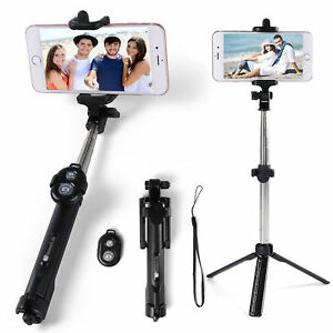 the best attitude 678f0 af9c5 Details about Extendable Selfie Stick Tripod Wireless Remote Shutter For  iPhone 8 Plus X 7