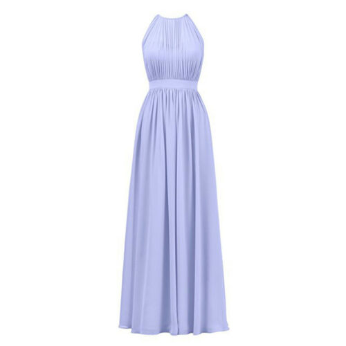 Women Elegant Long Chiffon Maxi Dress Cocktail Wedding Bridesmaid Evening Party